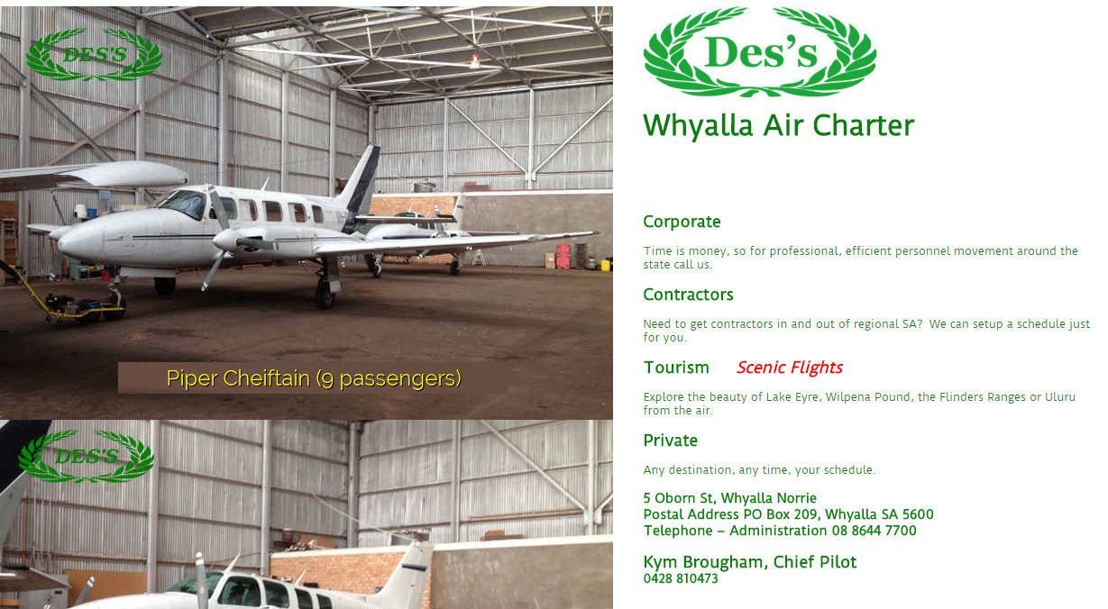 Whyalla Air Charter