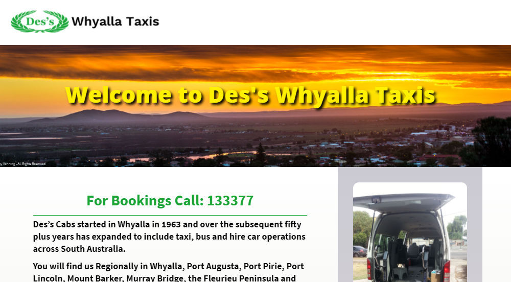 Des's Cabs Whyalla